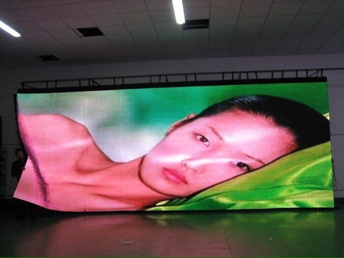 Foldable Soft Flexible LED Curtain , Concert LED Transparent Flexible Display SMD 5050 HD